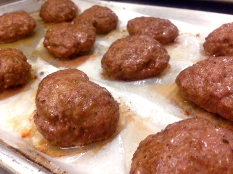Cooked Lamb Balls (Meatballs, that is)