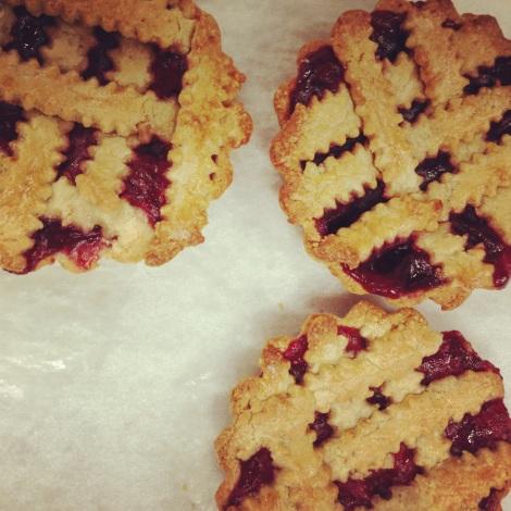 Cranberry Linzer Tarts