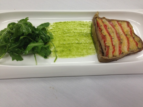 What you get when you order veg terrine at L'Ecole.